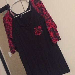 "3/4 sleeve ""Roses"" shirt"